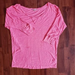 3/$25 Gap hot pink dolman sleeve shirt